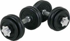 Zwarte ScSPORTS® 30 kg Halterset - Gietijzer - 4x1,25 kg en 8x2,5 kg - 30 mm - Gewichten - Dumbbells