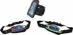 Hardlopen - Hardloopset - 3 stuks - Tunturi - Sport Telefoonarmband & Hardloopgordel Rood & Hardloopgordel Groen
