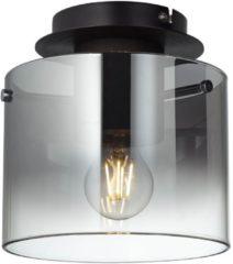 Zilveren BRILLIANT lamp Beth plafondlamp 20cm koffie / rookglas   1x A60, E27, 60W, gf normale lampen niet gespecificeerd Geschikt voor LED-lampen   Dimbaar bij gebruik van geschikte lampen