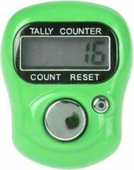 Firsttee Digitale Scoreteller - Compact - Teller - Personenteller - Handteller - Counter strike - Tally counter - Golf sport - Slagenteller - Golf accessoires - Golftrainingsmateriaal - Golf training - Golftrolley - Cadeau - Golfset - Lichtgroen