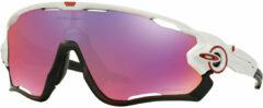 Witte OAKLEY fietsbril Jawbreaker Prizm Road 2019 sportbril, Unisex (dames / heren),