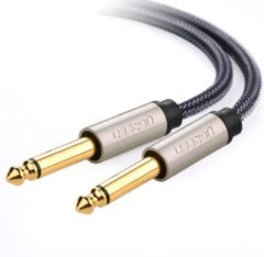 Groene Ugreen 10636 1m 6.35mm 6.35mm Zwart audio kabel
