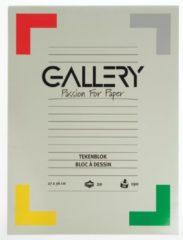 Gallery tekenblok ft 27 x 36 cm, extra zwaar houtvrij papier, 190 g/m², blok van 20 vel