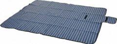 Orange85 Picknickdeken - 130 x 160 cm - Fleece - Blauw - Wit - Picknickkleed