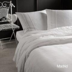 Papillon Madrid dekbedovertrek - 100% katoen - 1-persoons (140x200/220 cm + 1 sloop) - 1 stuk (60x70 cm) - Wit