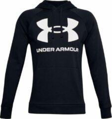 Witte Under Armour - UA Rival Fleece Big Logo HD - Black / / Onyx White - Mannen - Maat XL