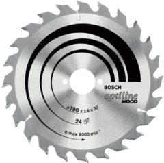 Bosch Accessories Optiline Wood 2608641171 Hardmetaal-cirkelzaagblad 160 x 20 x 1.8 mm Aantal tanden: 24 1 stuk(s)