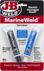 Grijze JB-Weld Marineweld 8272, 2-componenten Epoxy product, hardt zelfs uit onder water! Nu geleverd incl. een navulbare verstuiver Flacon met speciaal ontvetter!