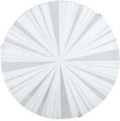 Witte EGLO Mars 1 Wand/Plafondlamp - 1 Lichts - Wit - Motief Stralen