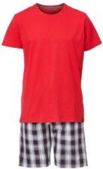 Kurz-Pyjama mit karierter Hose Jockey A-Red