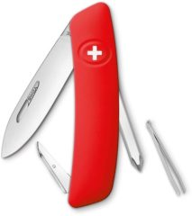 Rode SWIZA D02 KNI.0020.1000 Zwitsers zakmes softtouch Aantal functies: 6 Rood