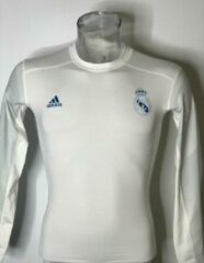 Witte Adidas Real Madrid 17/18 Prematch Techfit LS - Maat XL