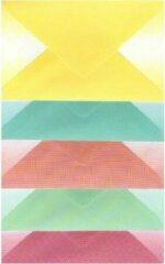 Blauwe Merkloos / Sans marque Luxe Enveloppen - 500 stuks - 5 Shadowkleuren - C6 - 162x114mm - 90grms