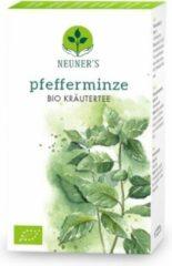 Neuner's - BIO - Biologische muntthee: pepermunt thee - 1 doosje x 20 zakjes = 46 gram, goed voor 10 liter kruidenthee - Puur Natuur - gecontroleerde kwaliteit - 100% pepermuntblaadjes, voor het maken van pepermunt infusie