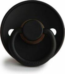 Zwarte FRIGG Fopspeen maat 2 - 6-18 maanden - Jet Black - Natuurrubber