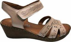 Manlisa dames velcro sandaal roze mt 40