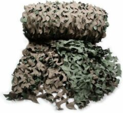 Groene Fosco Industries Pakket van 2x stuks camouflagenet 3 x 2,4 meter - Leger decoraties netten