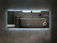 Mawialux LED Spiegel - 150cm - Rechthoek - Verwarming - Digitale Klok - Bluetooth - ML-150NMF