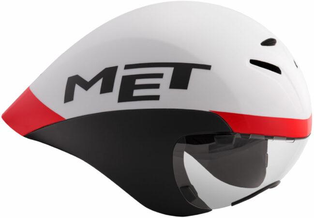 Afbeelding van MET Helm Race Drone Wide Body Wit/Zwart/Rood L