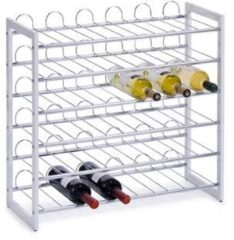 Witte Zeller - Wine Rack, stackable, white, metal chromed