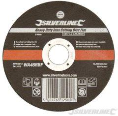 Silverline Heavy-Duty Aluminiumoxide Inox Snijschijf Plat (125x1.2x22.23mm)