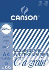 Canson Tekenblok C à grain 224 g/m² formaat 21 x 297 cm (A4)