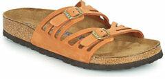 Birkenstock Granada Soft sandalen cognac - Maat 35