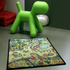 Sens Kids Rugs Safari kindervloerkleed - kindertapijt - 100 x 100 cm - wasbaar - zacht - duurzame kwaliteit - speelgoed