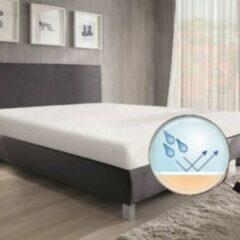 Witte Waterdichte matrasbeschermer - Snugfit 60x120
