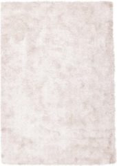 Roze Diamond Soft Rond Vloerkleed Creme Hoogpolig - 160 CM Rond