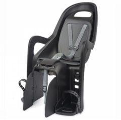 Zwarte Polisport Groovy Maxi zwart fietsstoeltje achter (dragerbevestiging)