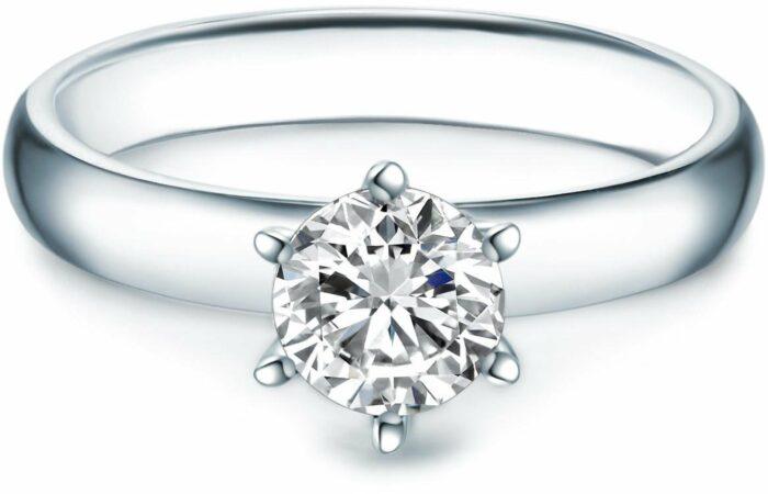 Afbeelding van Zilveren Tresor 1934 Trouwring Verlovingsringen Solitaire Ring