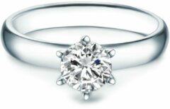 Zilveren Tresor 1934 Trouwring Verlovingsringen Solitaire Ring