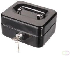 Zwarte Perel Geldkluisje - Met Uitneembare Muntbak - 11.5 X 15.5 X 8 Cm