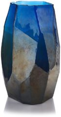 Donkerblauwe Pols Potten Graphic Luster vaas 40 cm