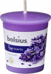 Paarse Bolsius 3 stuks Votive 53/45 rond True Scents Lavendel