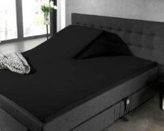 Hoogwaardige Percale Katoen Splittopper Lits-Jumeaux Hoeslaken Zwart   160x200   Ademend En Zacht   Duurzaam