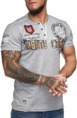 Grijze Violento Heren t-shirt monte carlo - 3459