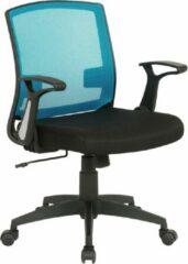 Clp Renton Bureaustoel - Microvezel - Zwart/blauw