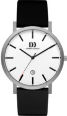 Grijze Danish Design watches titanium herenhorloge Rhône Stripe Silver Large IQ12Q1108
