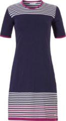 Nachthemd voor dames met korte mouwen 'horizontal eden stripes'