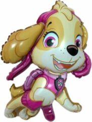 Roze Feestballonnenverkoop Skye Ballon - Folie Ballon - Paw Patroll - Paw Patroll Skye - Paw Patroll Speelgoed - Ballonnen - 40 x 35 cm - Helium Ballon - Leeg