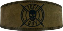 Tuff Guy Sports Military groen Lifting Belt, Small, met Fast Clip systeem en 12mm dikte.