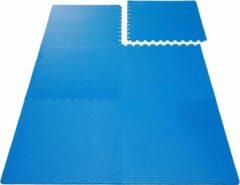 Blauwe #DoYourFitness Puzzelmatten »PuzzleMe« - 6 stuks van 60x60x1,2 cm - 2,2 m2