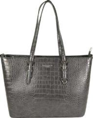 Grijze Flora & Co Shoulder Bag Shopper Croco Grey