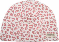 Roze Little Indians Mutsje Leopard Rose 0-12 maanden