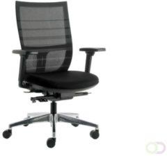 Bureaustoel Euroseats Curve aluminium voetenkruis zwart