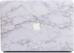Grijze CasualCases Hardcase hoes licht marmer wit voor de MacBook Pro Retina 15 inch (2016-2018)