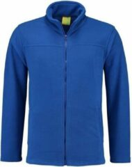 L&S Kobaltblauw fleece vest met rits voor volwassenen L (40/52)