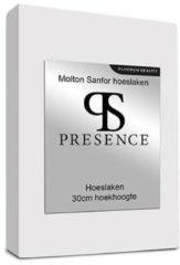 Presence Presence Molton Sanfor Hoeslaken - Platinum - Maat: 100 x 200
